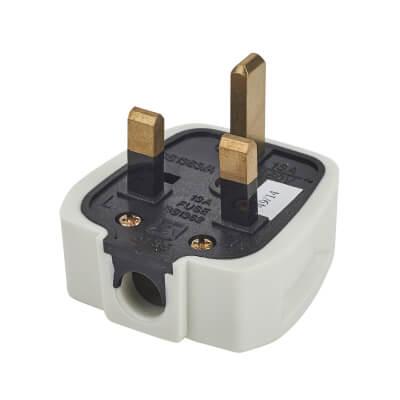 13A Rubber Plug Top - White)