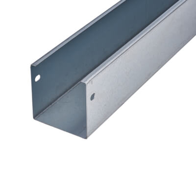 Trench Galvanised Steel Trunking - 75 x 75 x 3000mm