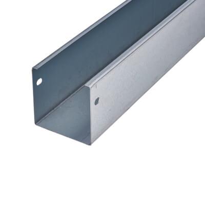 Steel Trunking - 75 x 75 x 3000mm - Galvanised)