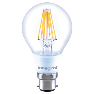 Integral LED 8W GLS Filament Dimmable Lamp - B22 - 2700K)