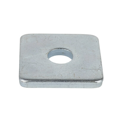 M10 Square Plate Washer - Zinc Plated - Pack 100)