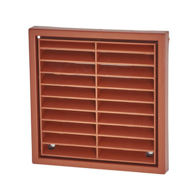 Manrose 4 Inch Fixed Grill - Terracotta)
