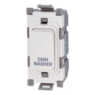 Deta 20A Printed Grid Switch - Dishwasher - White)