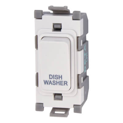 Deta 20A Printed Grid Switch - Dishwasher - White)