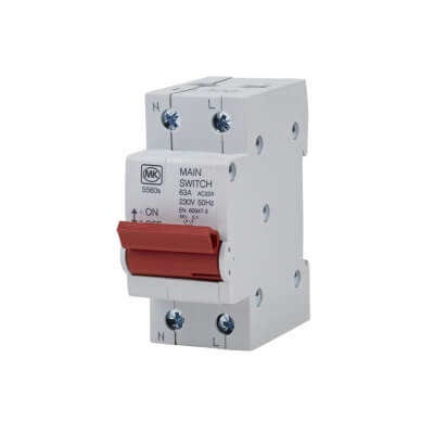 MK 63A Double Pole Main Switch)
