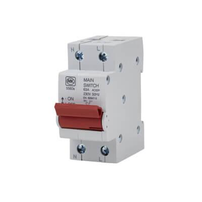 MK 63A Double Pole Main Switch