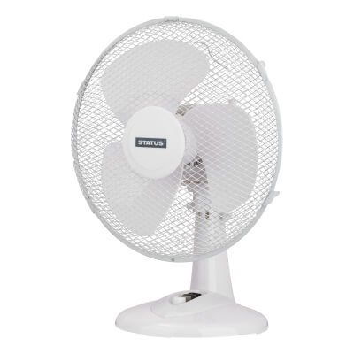 12 Inch Desk Fan - White)