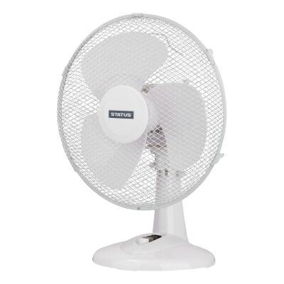 12 Inch Desk Fan - White)