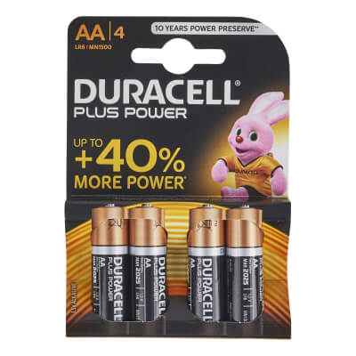 Duracell Batteries - AA Type - Pack 4)