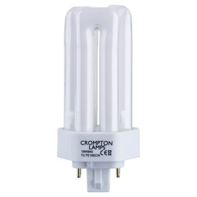 18W 4 Pin PL-T Compact Fluorescent Lamp - Cool White - 840)