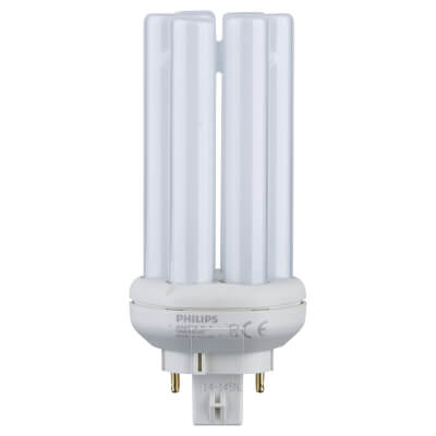 13W 4 Pin PL-T Compact Fluorescent Lamp - Cool White - 840