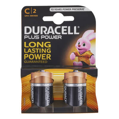 Duracell Batteries - C Type - Pack 2)