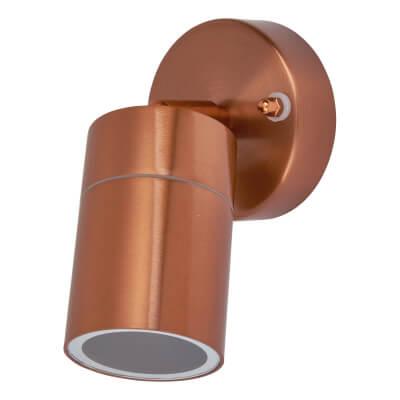 Zinc Leto Adjustable Indoor/Outdoor Wall Light - Copper Colour)