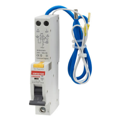 Contactum  6A 6kA Single Pole RCBO - Type B)