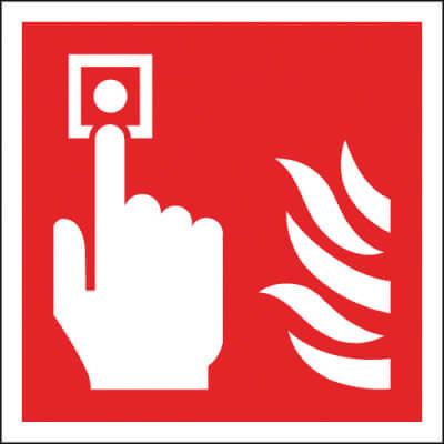 Fire Alarm Symbol - 100 x 100mm - Rigid Plastic)