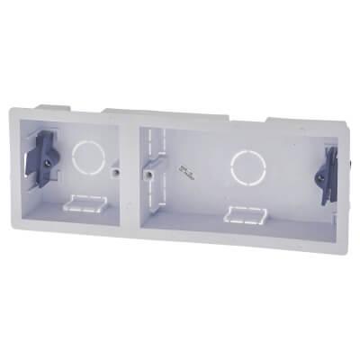 1 + 2 Gang Dry Line Box - 35mm - White