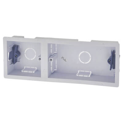 1 + 2 Gang Dry Line Box - 35mm - White)
