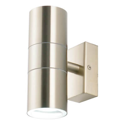 Zinc Leto Up/Down Indoor/Outdoor Light - Brushed Steel)