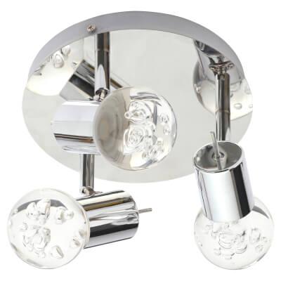 Forum Bubble LED Tri Plate Light - Chrome)