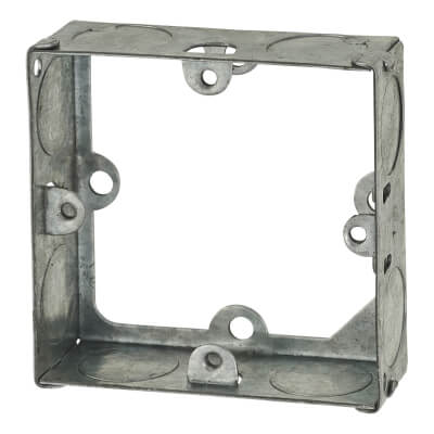 1 Gang Knockout Flush Extension Box - 25mm - Galvanised)