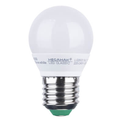 3.5W ES LED Golf Ball Lamp - Warm White)