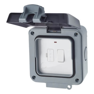 BG 13A IP66 1 Gang Weatherproof Switched Fused Connection Unit - Grey)
