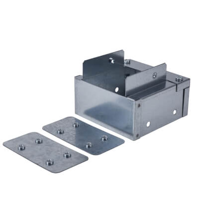 Steel Reducer - 100 x 100mm to 75 x 75mm - Galvanised 