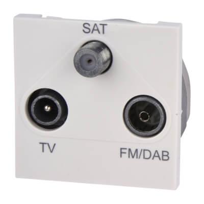 Deta Triplex Module TV/FM/Satellite - White)