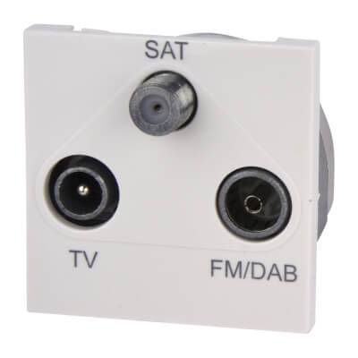 Deta Triplex Module TV/FM/Satellite - White