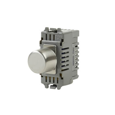 BG 400W 2 Way Grid Dimmer Switch - Brushed Steel)