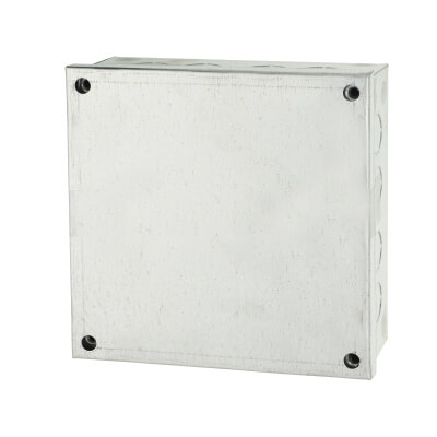 Adaptable Back Box with Knockouts - 54mm - Galvanised)