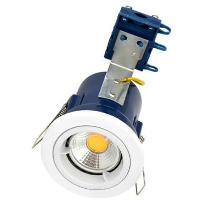 Forum Yate Fixed LED Fire Rated Downlight - White)