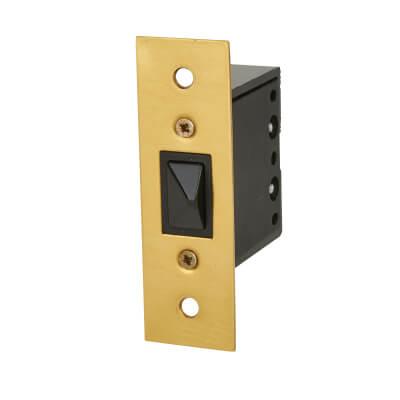 Push to Break Door Switch - Brass)