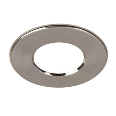 Halers Round Bezel - Brushed Steel )