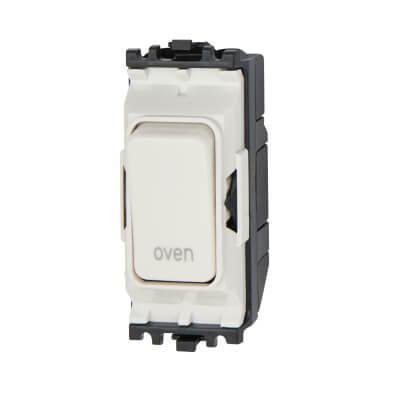 MK 20A Double Pole Switch Module - Oven - White
