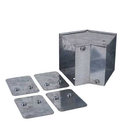 Internal Bend - 45° - 75 x 75mm - Galvanised)