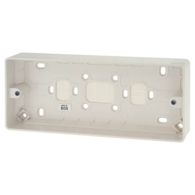 MK 3 Gang Moulded Surface Box without Earth Terminal - 30mm