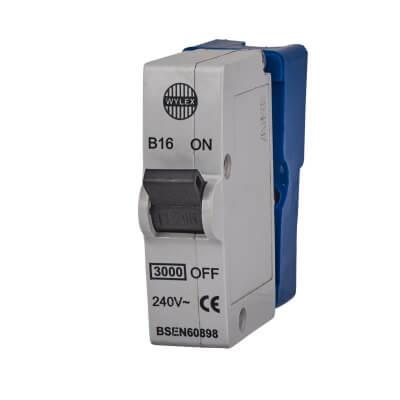 Wylex 16A Plug In MCB  -Type B)