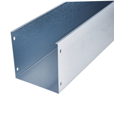 Trench Galvanised Steel Trunking - 150 x 150 x 3000mm