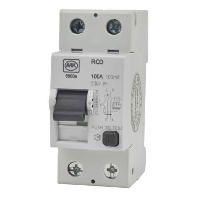 MK 100A 100mA 2 Module RCD)