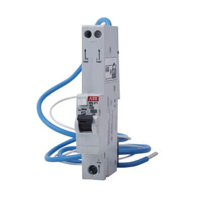 ABB 20A 30mA 10kA 1 Module 3 Phase RCBO - Type C)