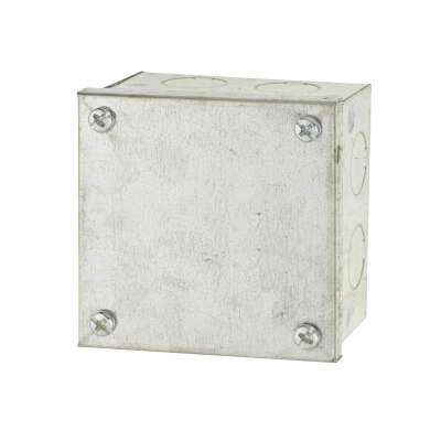 Adaptable Back Box with Knockouts - 56mm - Galvanised)