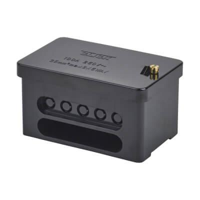 100A Double Pole Connector Block - Black)