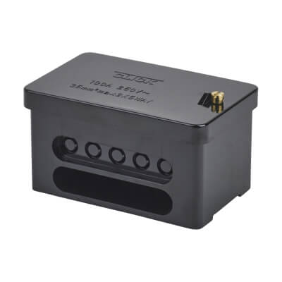 100A Double Pole Connector Block - Black)