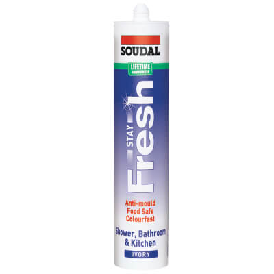 Soudal Stay Fresh Ultimate Anti-mould Sealant - 300ml - Ivory)