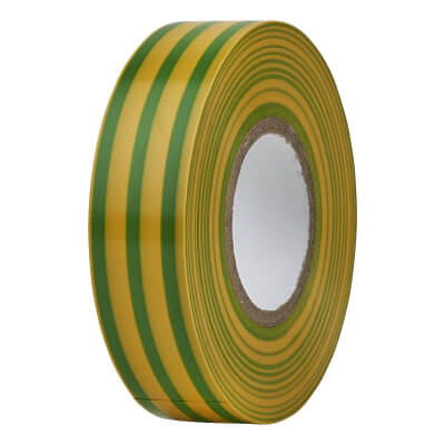 Directa 19mm Roll PVC Tape - 20m - Green/Yellow)