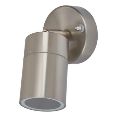Zinc Leto Adjustable Indoor/Outdoor Wall Light - Brushed Steel)