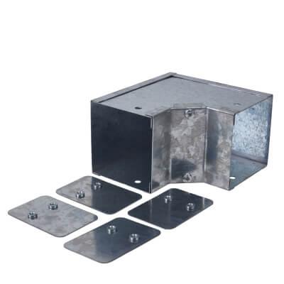 Galvanised Internal Square Bend - 90° - 75 x 75mm