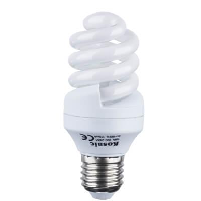15W ES Energy Saving Spiral Lamp - Warm White
