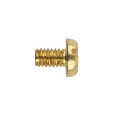 Brass Pan Head Screw - M4 x 6mm - Pack 100)